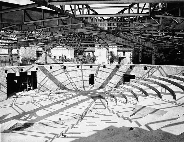 Le chantier du Théâtre en Rond, 1958